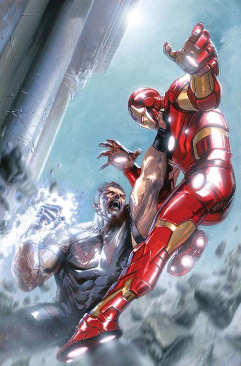 Avengers Annual #1, 2012 cover by Gabriele Dell'Otto wonderman vs iron man