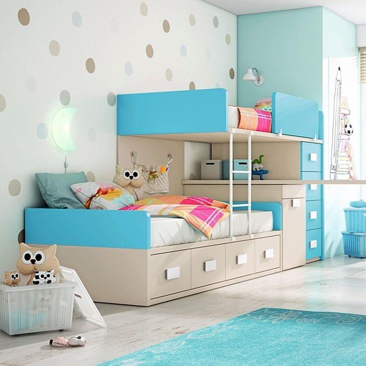 Mejores 28 imágenes de Literas en Pinterest   Dormitorios juveniles ...