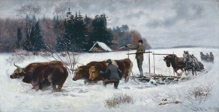 "William Cruikshank, ""Breaking a Road,"" 1894, National Gallery of Canada."