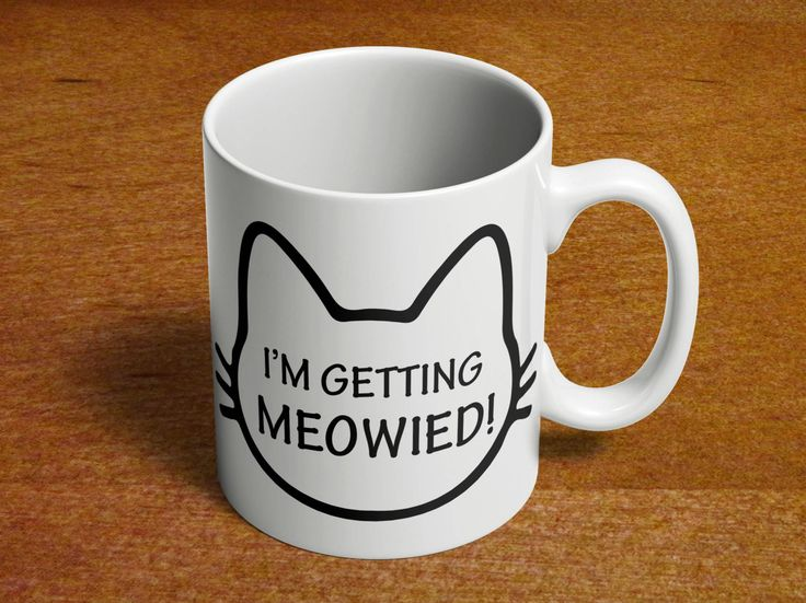 Engaged mug | Getting Married | Cute Engagement Gift | Bridal Shower Gift | Getting Meowied | Cat Lover Mug | Gift for Her | 11oz Ceramic 97