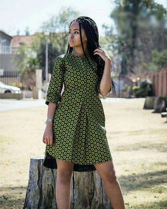 Top imprimé africain chemise robe Ankara Ankara robe