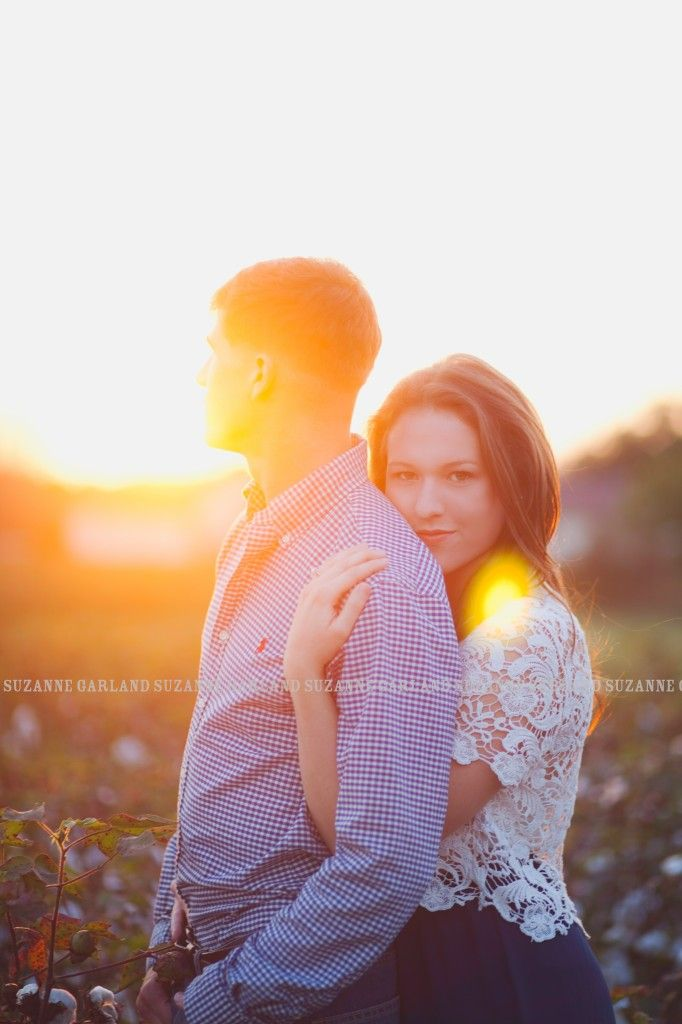 Raleigh Engagement Photographer - Suzanne Garland Photography - Cotton field engagement session - eastern North Carolina engagement photographer