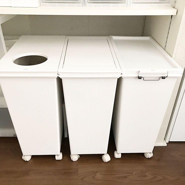背面収納/マイホーム/掃除/ホワイト化/キッチン収納/整理整頓…などのインテリア実例 - 2017-03-18 12:07:30 | RoomClip(ルームクリップ)
