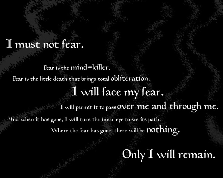 Bene Gesserit Litany Against Fear  Quotes  Pinterest