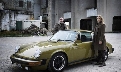 The best drama series on tv right now - Kim Bodnia as Martin Rohde and Sofia Helin as Saga Norén in The Bridge.
