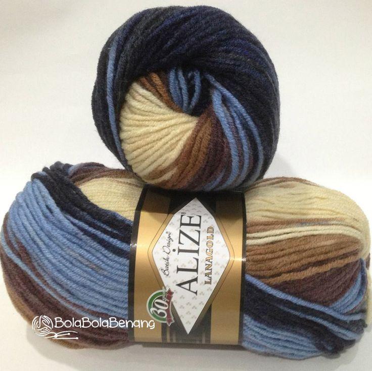 LANAGOLD BATIK 3017, Price: Rp.100.000,- /gulung, Bahan: 49% Wool – 51% Acrylic, Berat/Panjang: 100gr/240m, Knitting Needles: 4mm –6mm, Crochet hook: 5mm - 6mm