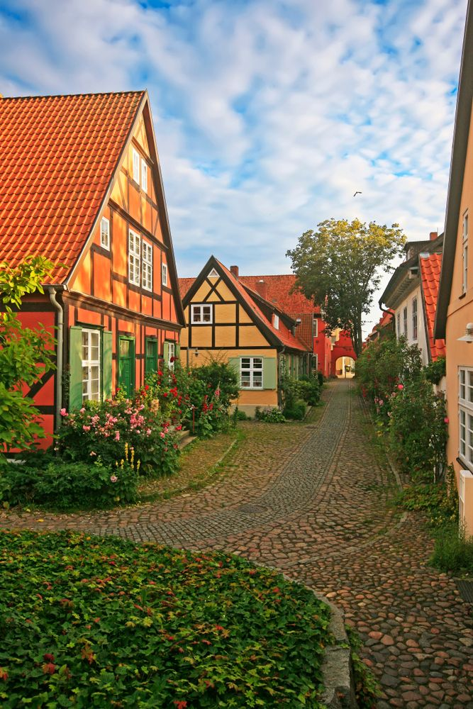 Old Houses And Tiny Gardens In Stralsund Germany Germany Travel Germany Holidays Germany