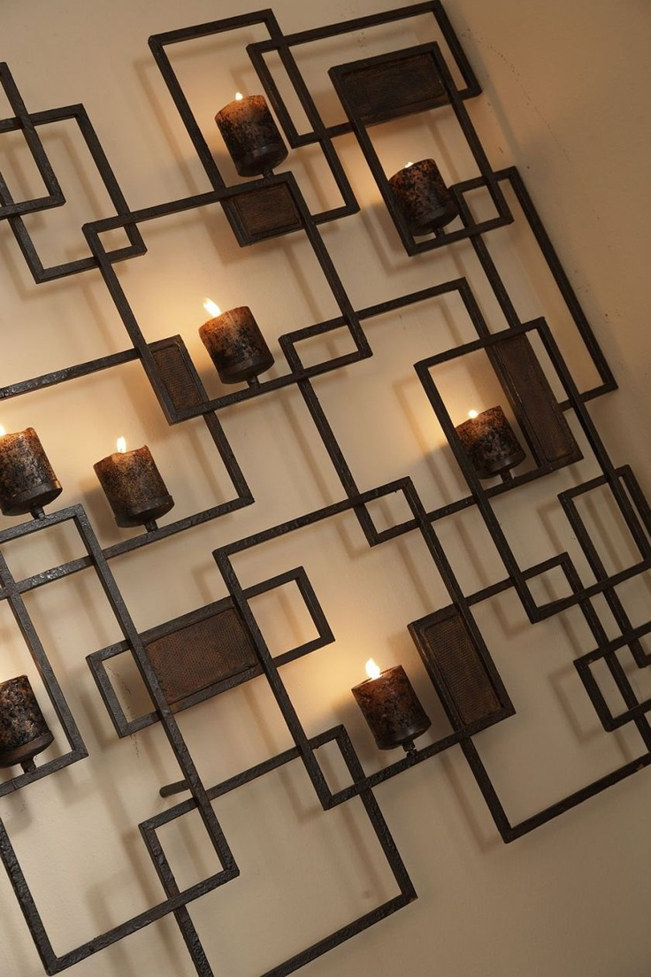 Metal Wall Decor With Candles : Metal wall art walls and candle holders on
