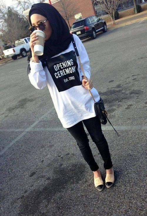 รูปภาพ fashion, hijab, and style