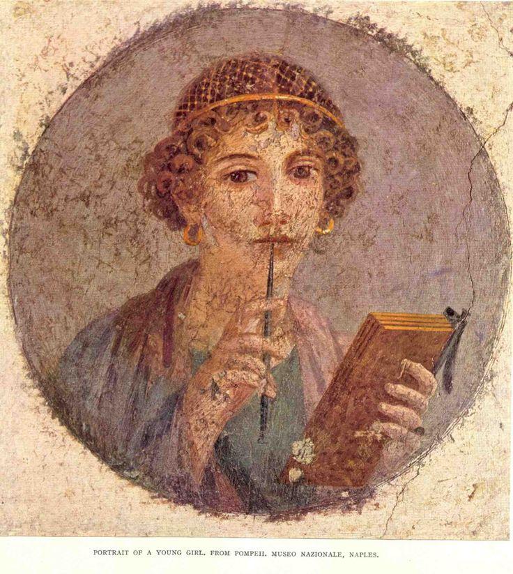A férfi kezében tartott papirusztekercs római polgárjogára utalhat. Mindegyik portrénál dominálnak a nagy barna szemek, melyek élővé teszik a tekintetet.