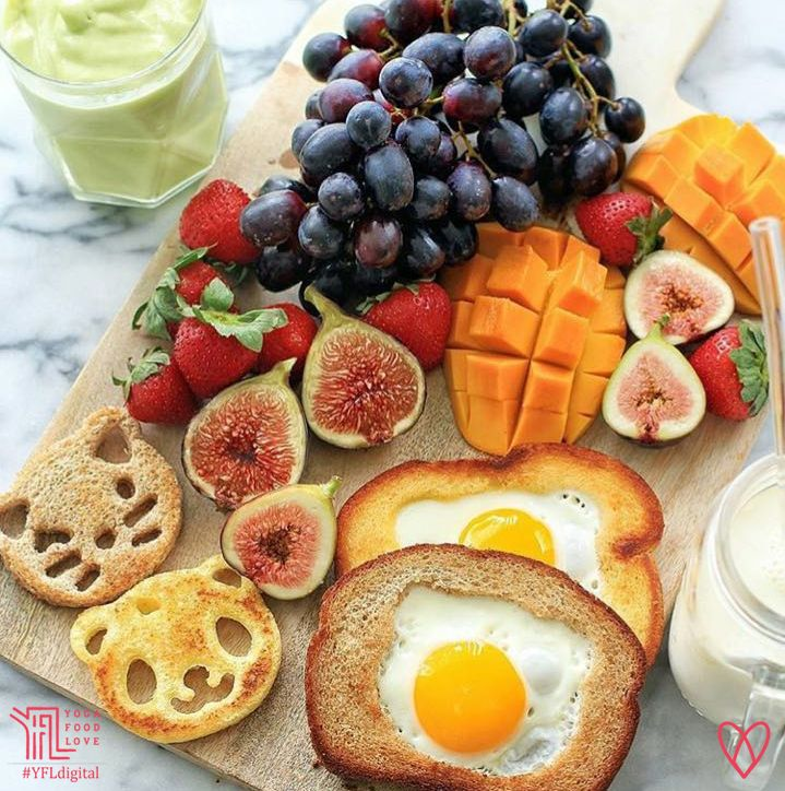 Indulge in a fun filled nutritious breakfast by Clare to embrace the inner child in you. We love eggs and this is such a fun way to include them in your breakfast. Get creative with ‪#‎breakfast‬ or ‪#‎brunch‬ for kids. You can make stuffed toasts with peanut butter, jelly, cheese and other fillings as well. Kids will love these fun animal ‪#‎toasts‬. These cute bread cutters from CuteZCute come in four animal faces - panda, pig, cat and frog. ‪#‎YogaFoodLove‬ ‪#‎Eggs‬ ‪#‎Fruits‬