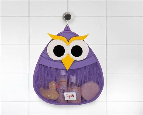 3 Sprouts Bath Storage - Owl    Price: $44.95    Description:    3 Sprouts Owl Bath Storage is the perfect spot for all your little one's bath stuff!    Made of the same mildew resistant material used for wetsuits, our bath storage keeps toys dry and your tub organized. The stretchy wide mouth makes grabbing those 'gotta find it now' toys a snap! Best of all, 3 Sprouts has included an easy to adhere, slip-proof suction cup which holds on tight to any tile or glass surface.