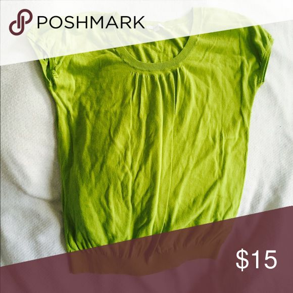 Cute Gap Lime Green Shirt Lightweight sweater in Lime Green by Gap has a very flattering fit. Gap Tops Tees - Short Sleeve