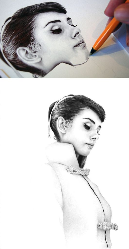 Ballpoint Pen Drawings by James Mylne
