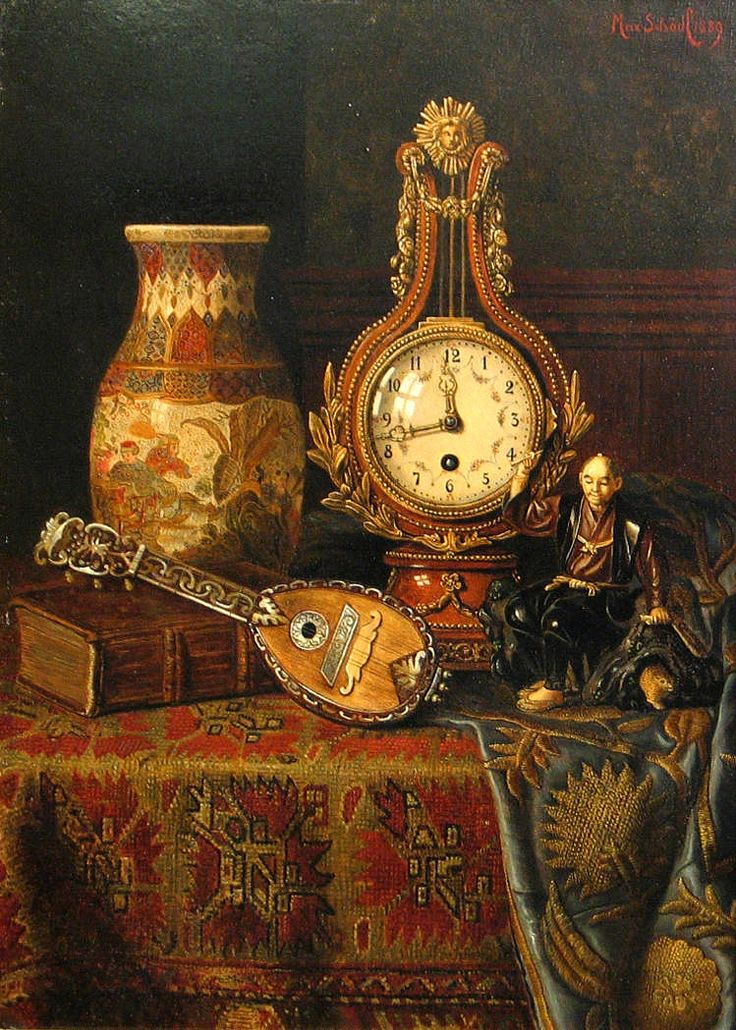 Max Schödl (1834-1921) — Still life on a Turkish Rug, 1889 (749×1049)