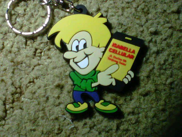 Gantungan kunci karet kartun Isabella. www.istanarubber.com