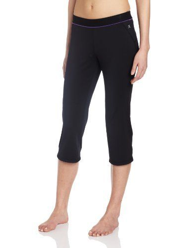 Danskin Women's Crop Pant Danskin. $45.00. Side media pocket. Curved side seams add to the comfort and control of our semi-fitted crop pant. 86% Polyester/14% Spandex. Elastic waistband. Machine Wash. Inseam length 19 inches. Wicking fabric