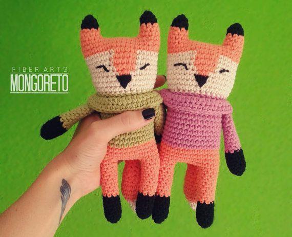 Fox Amigurumi Pattern by Mongoreto on Etsy