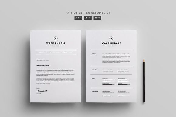 Resume / CV Template by Page Craft on @creativemarket #resume #cv #template #adobe #indesign #microsoft #word #design #layout #cover #letter #professional #editorial #clean #simple #pagecraft #creativemarket #best #graphic #print #document