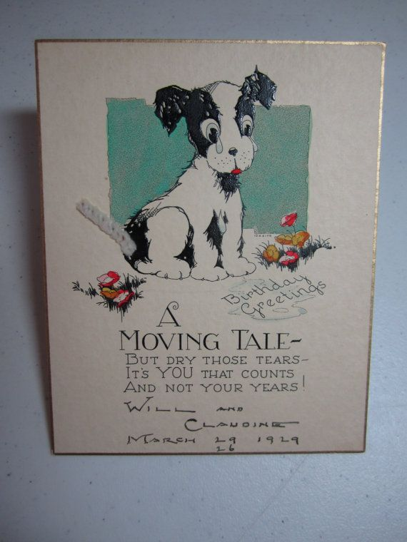 46 best Vintage dog greeting cards images – Novelty Birthday Cards