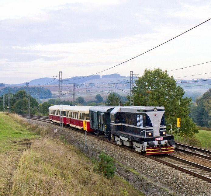 ČKD Diesel-electric locomotive from CKD 720 series in Bedrč, Czech Republic