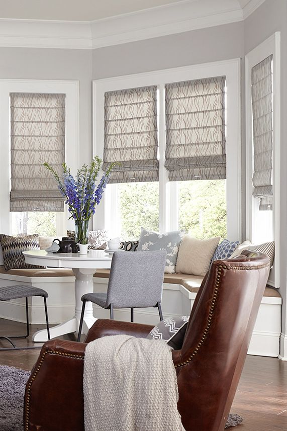 The Ultimate Guide To Blinds For Bay Windows Blinds Com Window Treatments Living Room Living Room Blinds Bay Window Living Room