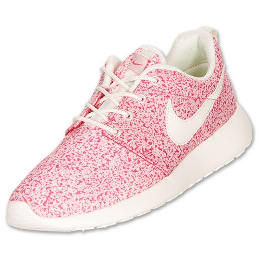 Women's Nike Roshe Run Casual Shoes... Aidan says they look like pink sprinkles! :)