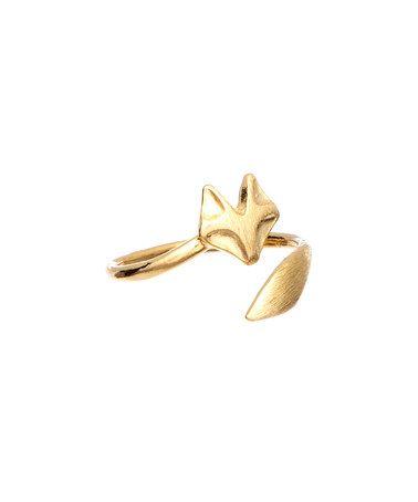 Look what I found on #zulily! Gold Mini Fox Ring #zulilyfinds