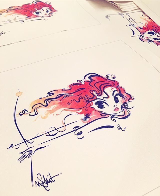 "Last but not least, ""Challenge Fate"". Available on July 16th at the #Disney #WondergroundGallery #Brave"
