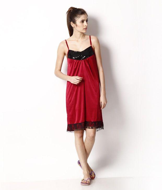 #Women's #Maroon #Poly #Satin #Nighty #Babydoll #Nighty #style #NIGHTWEAR #intimate #Gift #Shop #Buy #online #India #Women #Fashion