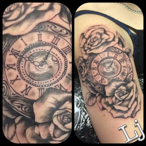 36 best tattoos images on pinterest pocket watch tattoos clock tattoos and hourglass. Black Bedroom Furniture Sets. Home Design Ideas