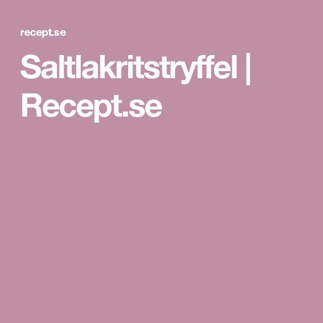 Saltlakritstryffel | Recept.se