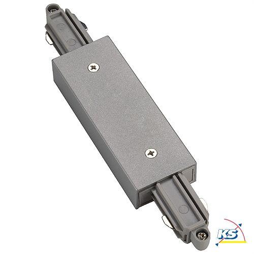 Längsverbinder für 1-Phasen HV-Stromschiene, mit Einspeisemöglichkeit, silbergrau