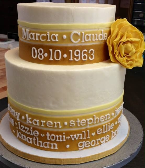 50th wedding anniversary cake for my parents!