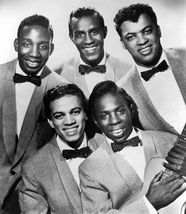 The Impressions — 1958 (top) Jerry Butler, Sam Gooden, Arthur Brooks (bottom) Richard Brooks & Curtis Mayfield