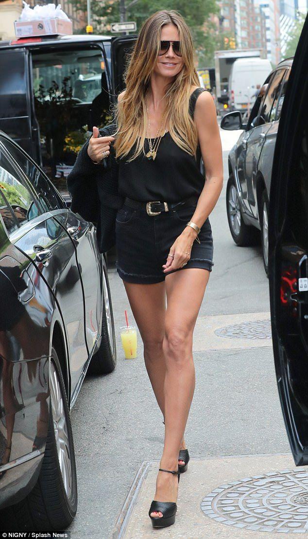 Still got it! Heidi Klum, 44, proved she's still got supermodel pins it as she rocked a pa...