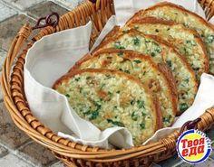 Очень вкусный запеченный хлеб с чесноком и сыром! сыр