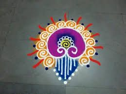 Very Easy and Small Rangoli Designs for Diwali