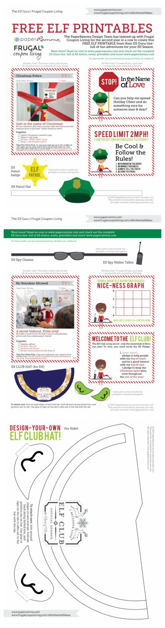 Elf on the Shelf Ideas | Elf Twister Printable
