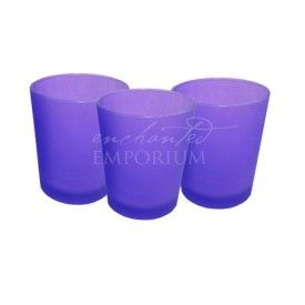 Violet Frosted Tealight Votives, Enchanted Emporium