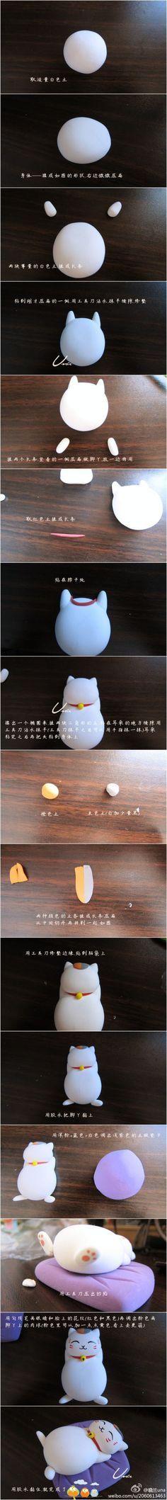 Maneki Neko #Cat #Fondant #Tutorial
