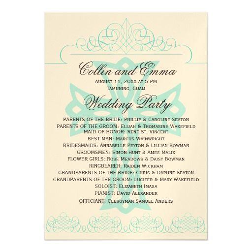 Cross Wedding Programs Card