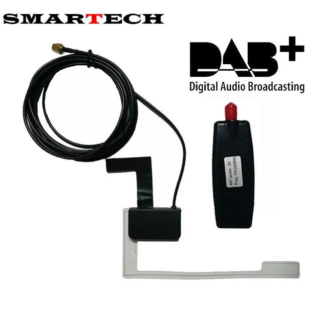 Daily Deals $43.79, Buy SMARTECH Universal Android Car Auto Radio Stereo Head Unit DAB+ Receiver Antenna Digital Audio Broadcasting DAB+ USB Antenna