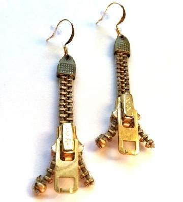 Zipping Zipper Earrings