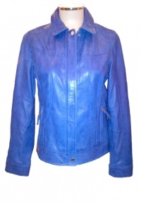 Oakwood Leather Jacket - Blue