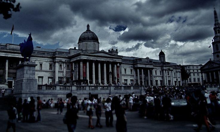 ロンドンの写真:トラファルガー広場&ナショナル・ギャラリー