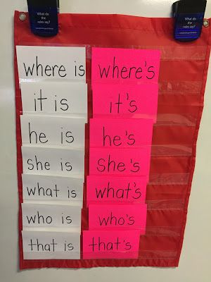 Firstie Land - First Grade Contractions