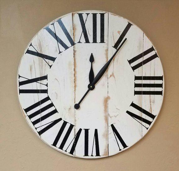 42in oversized Classic farmhouse wall clock by AveryStDesignCo