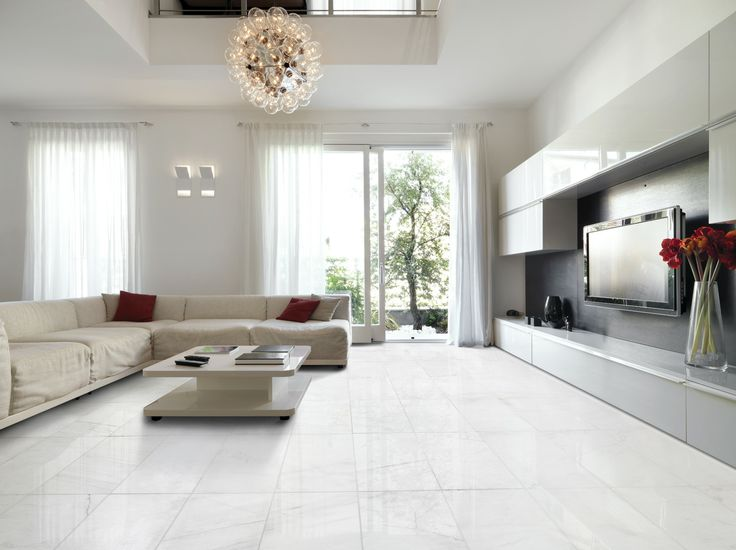 Snow White Polished Marble collection from Marble Systems, Inc.