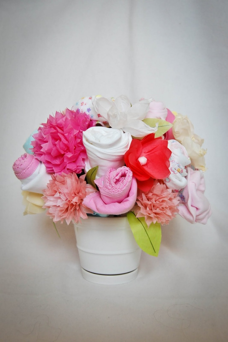 20 best onesie bouquet images on Pinterest   Baby showers ...